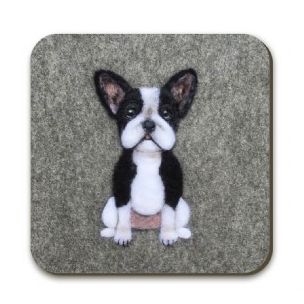 Frenchie Coaster by Sharon Salt